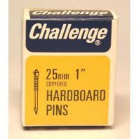 Challenge Hardboard Pins (Deep Drive) - Copper Plated (Box Pack) - 25mm